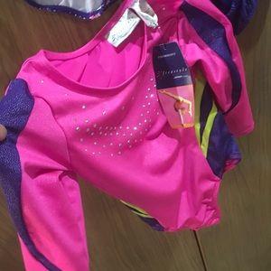 Freestyle Costumes - Girls (3) new leotards dance gymnastics size 6-6X